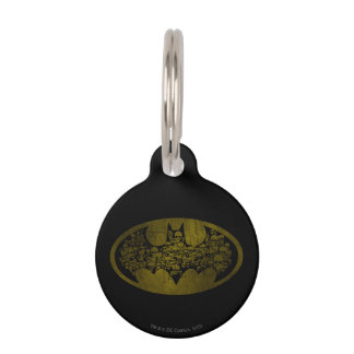 Batman Symbol | Skulls in Bat Logo Pet ID Tag