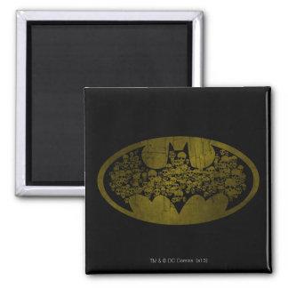 Batman Symbol | Skulls in Bat Logo Square Magnet