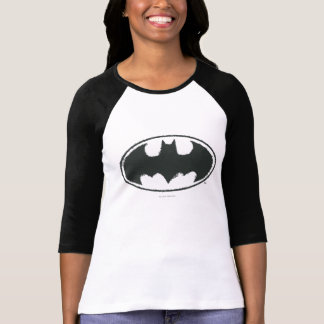 Batman Symbol | Spray Black White Logo T-Shirt