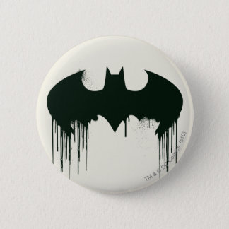 Batman Symbol | Spraypaint Logo 2 Inch Round Button