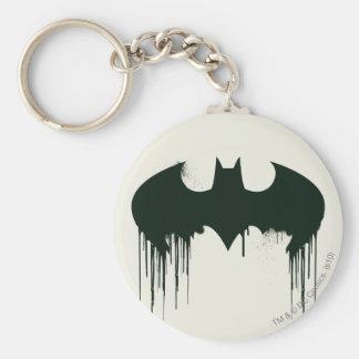 Batman Symbol | Spraypaint Logo Basic Round Button Keychain