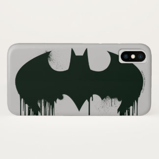 Batman Symbol | Spraypaint Logo iPhone X Case