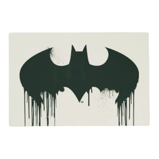 Batman Symbol | Spraypaint Logo Laminated Place Mat