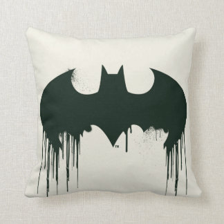 Batman Symbol | Spraypaint Logo Throw Pillow