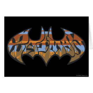 Batman Symbol | Urban Blue Brown Logo Card