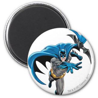 Batman throws batarang 2 inch round magnet