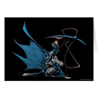 Batman throws baterang card