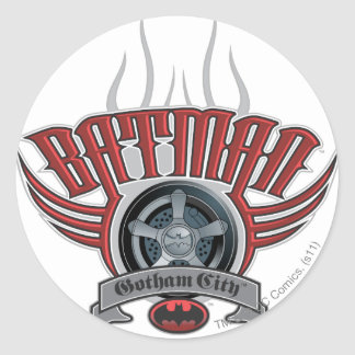 Batman | Tire Rim Logo Classic Round Sticker