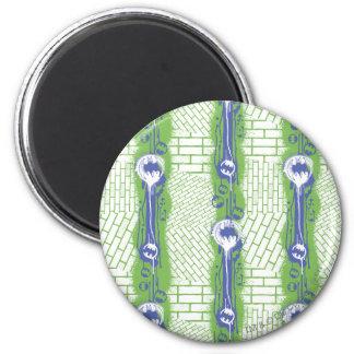 Batman Twisted Brick Pattern 2 Inch Round Magnet