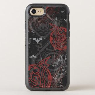 Batman Urban Legends - Bat Stamp Pattern Black/Red OtterBox Symmetry iPhone 8/7 Case