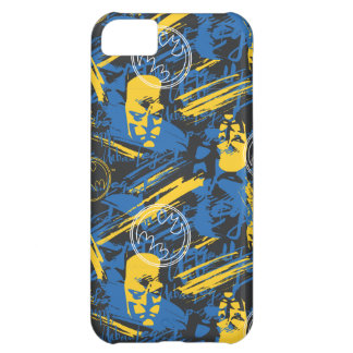 Batman Urban Legends - Head Pattern 2 Blue/Yellow Cover For iPhone 5C