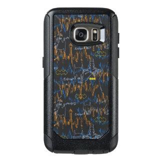 Batman Urban Legends - Line Art Pattern Or/Blu OtterBox Samsung Galaxy S7 Case