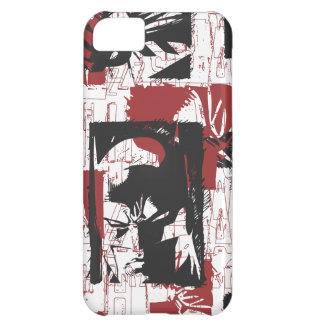 Batman Urban Legends - Mask & Fist Stamp Red iPhone 5C Cases