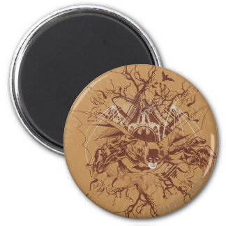 Batman Urban Legends - Tan/Brown Organic Batman 2 Inch Round Magnet