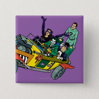 Batman Villains In Jokermobile 2 Inch Square Button
