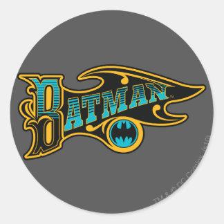 Batman | Vintage Turquoise Logo Classic Round Sticker