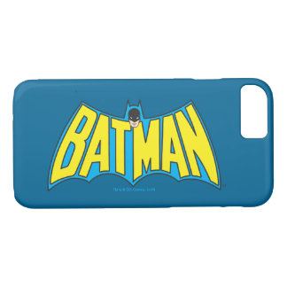 Batman | Vintage Yellow Blue Logo 2 iPhone 8/7 Case