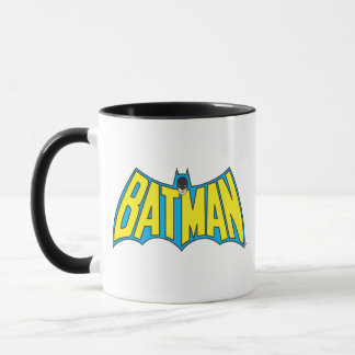 Batman | Vintage Yellow Blue Logo Mug