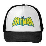 Batman   Vintage Yellow Blue Logo Trucker Hat