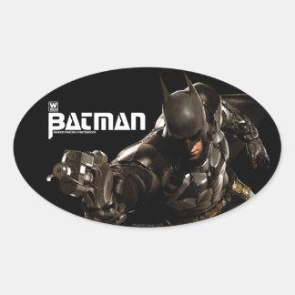 Batman With Batclaw Oval Sticker