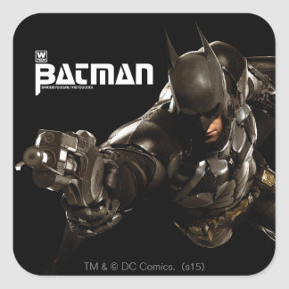 Batman With Batclaw Square Sticker