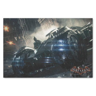Batman With Batmobile In The Rain Tissue Paper