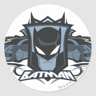 Batman with Batmobiles Round Sticker