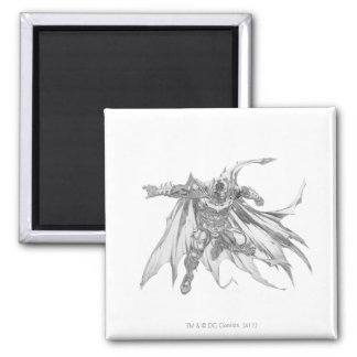 Batman with cape Drawing Square Magnet