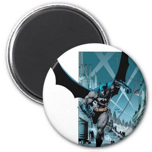 Batman with city background fridge magnets
