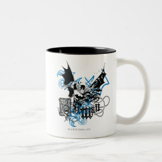 Batman with Knotwork Collage Two-Tone Coffee Mug