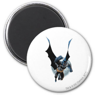 Batman with Moon 2 Inch Round Magnet