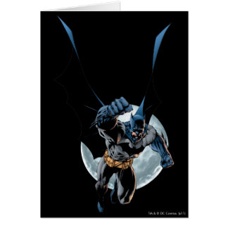 Batman with Moon Card