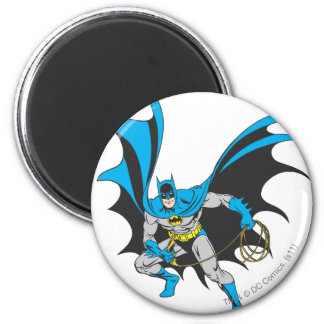 Batman with Rope 2 Inch Round Magnet