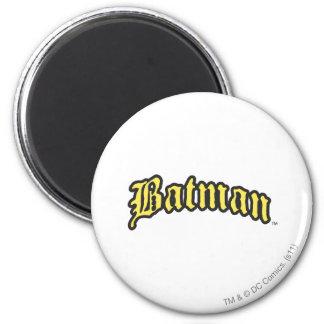 Batman | Yellow Black Outline logo 2 Inch Round Magnet