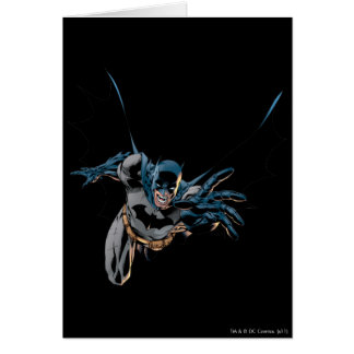 Batman yells and lunges card