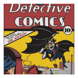 Batman's First Appearance Poster