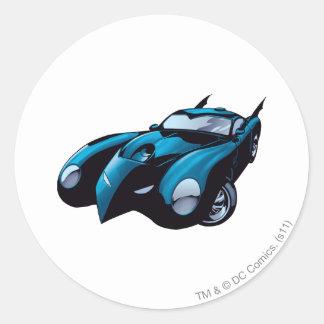 Batmobile Front Classic Round Sticker