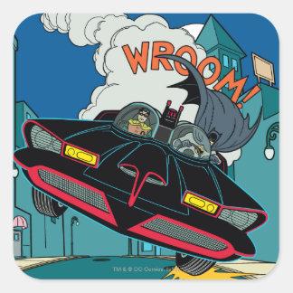 Batmobile Wroom ! Sticker Carré