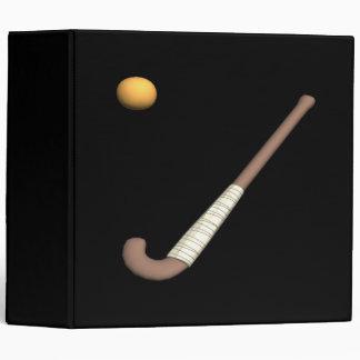 Bâton de hockey et boule de champ classeur 3 anneaux