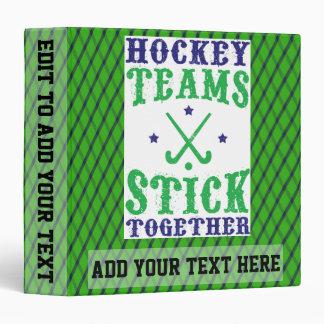 Bâton d'équipes de hockey de champ ensemble album classeurs 3 anneaux