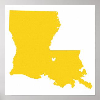 Baton Rouge, Louisiana Love Poster