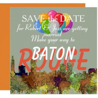 Baton Rouge Louisiana Skyline Safari Buff Card