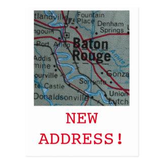 Baton Rouge New Address announcement Postcard