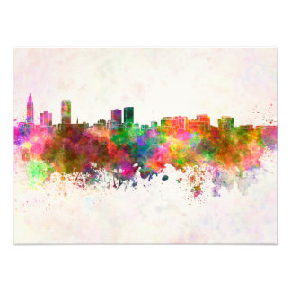 Baton Rouge skyline in watercolor background Fotografías