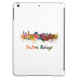 Baton Rouge skyline in watercolor copy Case For iPad Air
