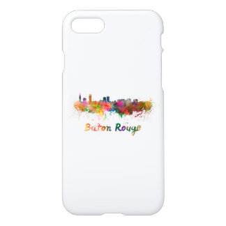 Baton Rouge skyline in watercolor copy iPhone 8/7 Case