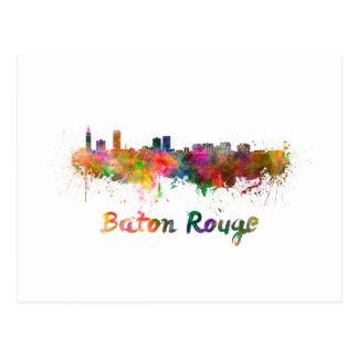 Baton Rouge skyline in watercolor copy Postcard