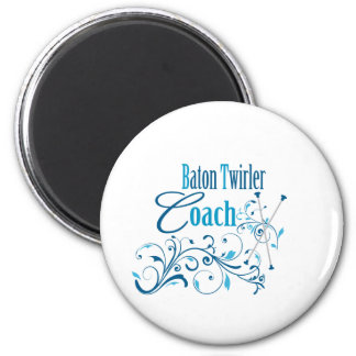 Baton Twirler Coach Swirly Magnet