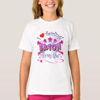 Baton Twirlers, I Love Twirling, Baton T-Shirt