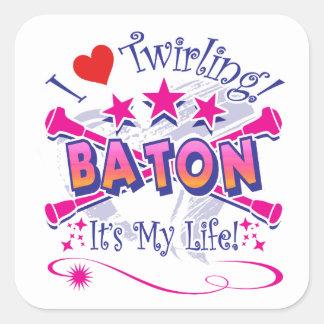 Baton Twirlers Square Sticker